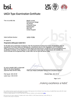 VG5 UKCA certificate